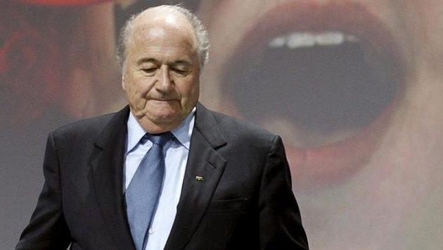 Prezident FIFA Sepp Blatter na ilustračním snímku