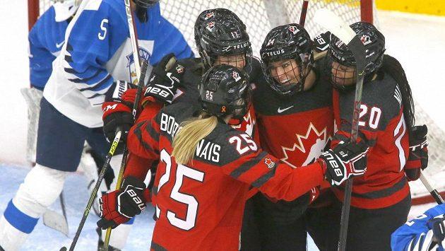 Hokejistky Kanady. Ilustrační foto.