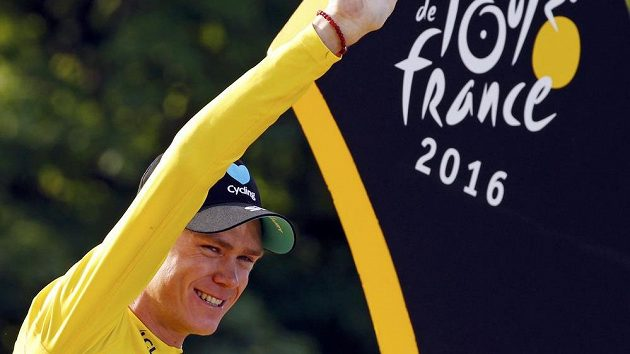 Vítěz Tour de France 2016 Chris Froome z Velké Británie.