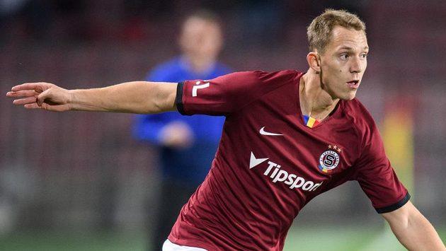 Lukáš Juliš ze Sparty Praha během utkání 14. kola Fortuna ligy.
