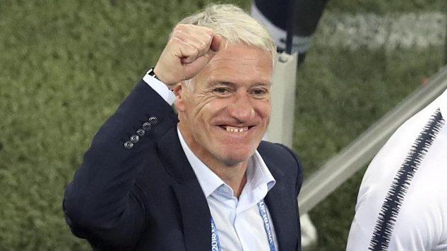 Francouzský kouč Didier Deschamps po výhře nad Belgií.