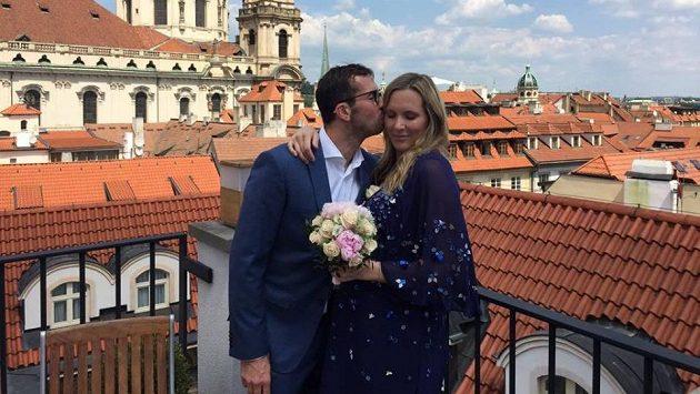 Svatební foto Radka Štěpánka a Nicole Vaidišové
