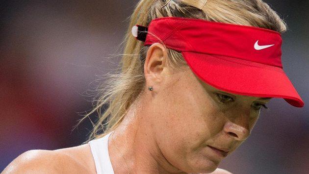 Smutná ruská tenistka Maria Šarapovová.
