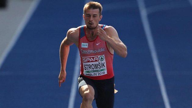 Zdeněk Stromšík při rozběhu mistrovství Evropy v Berlíně.