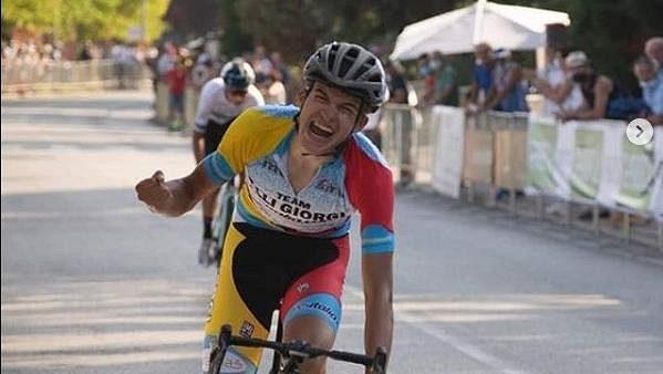 Český cyklistický talent Mathias Vacek.