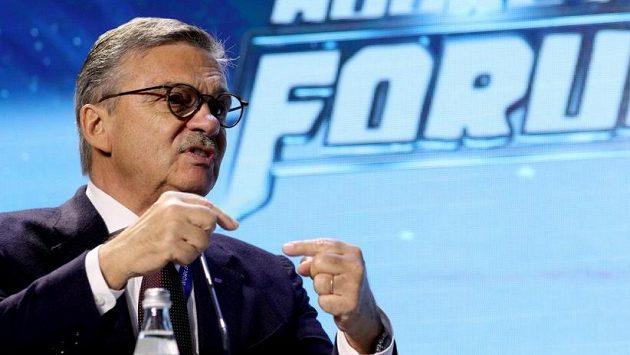 Prezident Mezinárodní hokejové federace René Fasel.