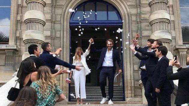 Francouzský tenista Lucas Pouille se oženil.