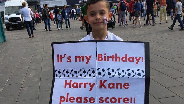 Mladému fanouškovi se žádost nesplnila.