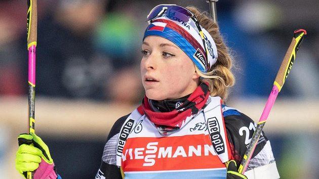 Česká biatlonistka Markéta Davidová na archivním snímku v Novém Městě na Moravě.