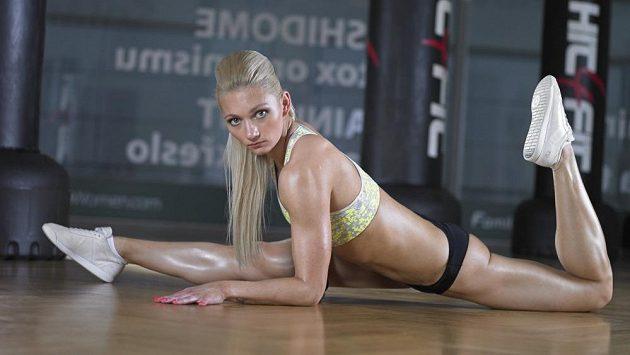 Tamara Jiříková při tréninku.