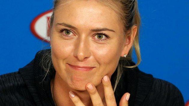 Ruská tenistka Maria Šarapovová na tiskové konferenci před Australian Open.