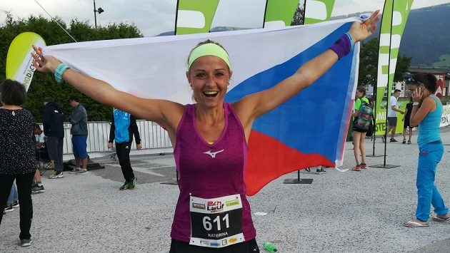 Kateřina Kašparová - držitelka nového národního rekordu v běhu na 12 hodin.