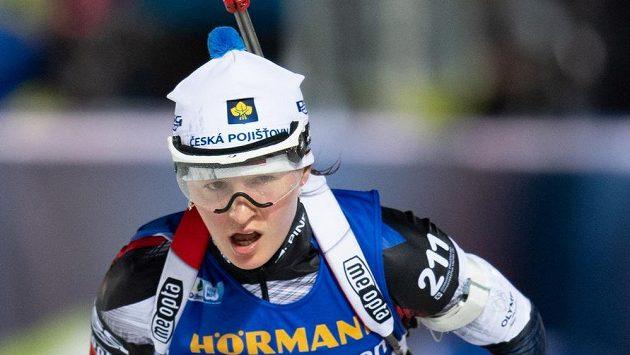 Veronika Vítková během stíhacího závodu v rámci SP v Novém Městě na Moravě. Ilustrační snímek.