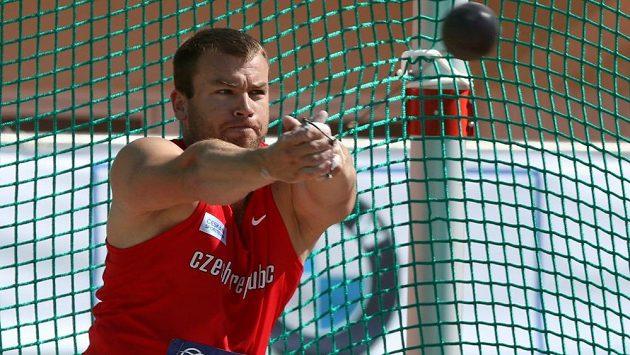 Kladivář Lukáš Melich na mistrovství Evropy družstev v Heraklionu.