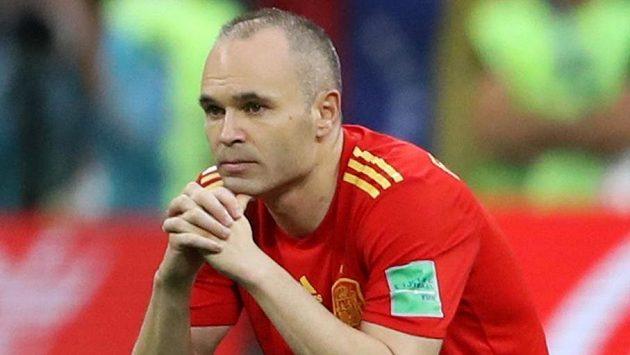 Andres Iniesta už ví, že odehrál poslední zápas za španělskou reprezentaci...