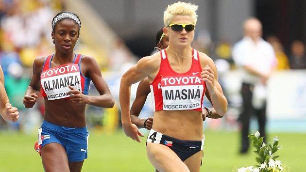 Lenka Masná během mistrovství světa v Moskvě.