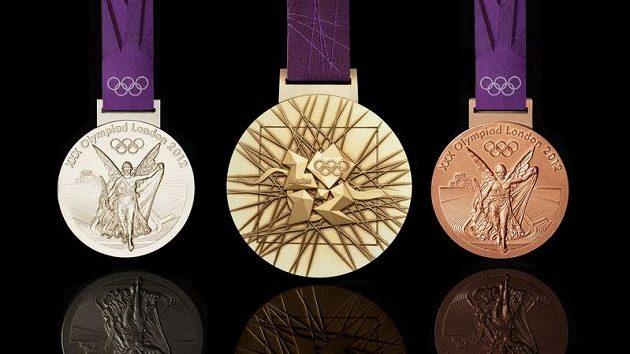 Sada olympijských medailí, která se bude rozdávat při hrách v Londýně v roce 2012.