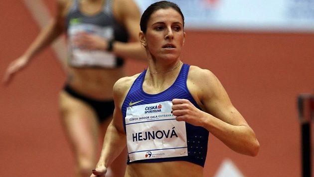 Zuzana Hejnová při ostravském mítinku Czech Indoor Gala.
