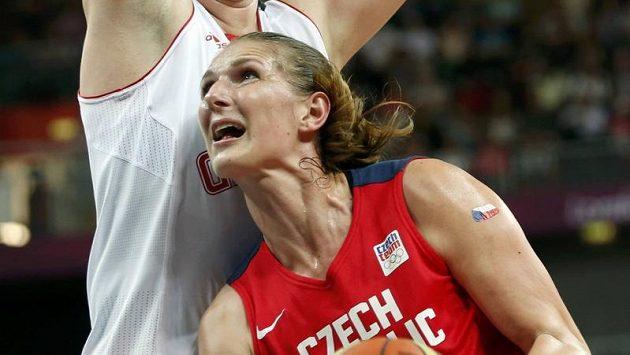 Česká basketbalistka Ilona Burgrová