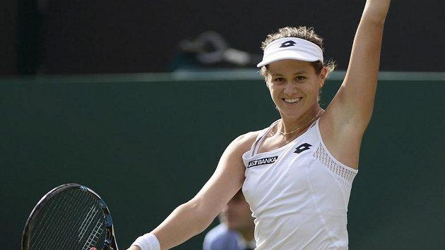 Slovenka Jana Čepelová po senzační výhře ve 3. kole Wimbledonu.