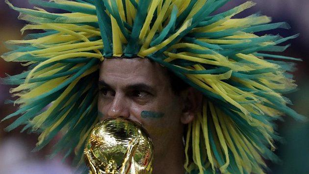Fanoušek Brazílie na MS v Rusku.