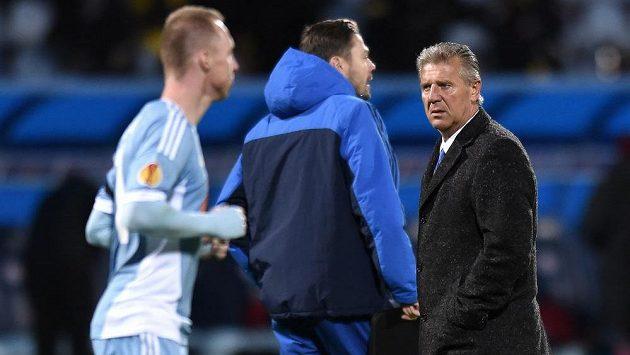 Trenér Slovanu Bratislava Jozef Chovanec se dalšího bodového zisku nedočkal.