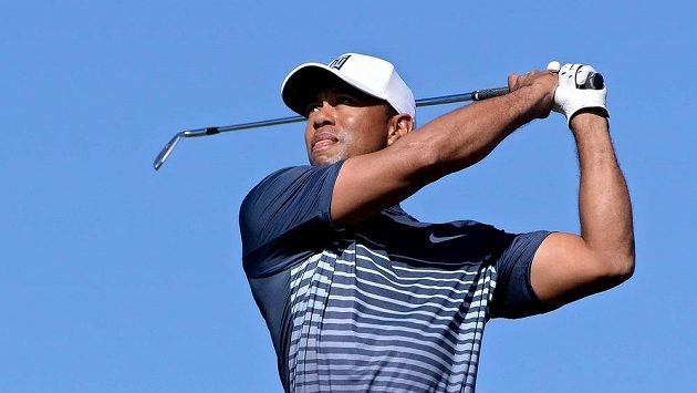 Americký golfista Tiger Woods na turnaji Farmers Insurance Open v San Diegu.
