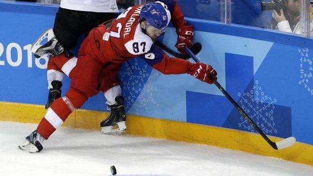 Jakub Nakládal v utkání o bronz.