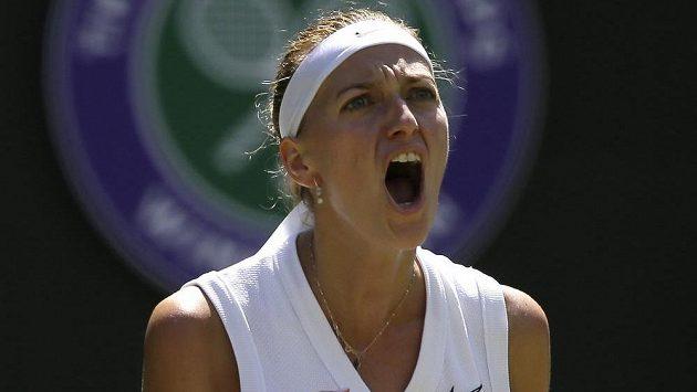 Dvojnásobná šampionka Petra Kvitová je po výhře nad Kristinou Mladenovicovou z Francie.