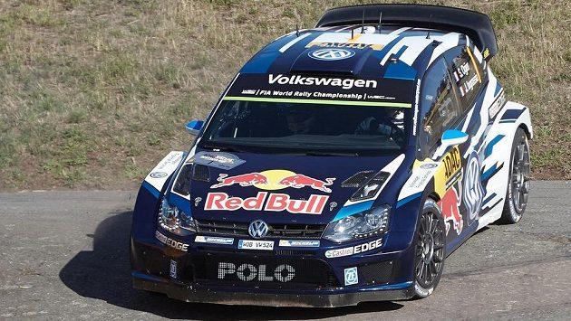 Sébastien Ogier a Julien Ingrassia se svým Volkswagenem Polo R WRC (ilustrační foto).