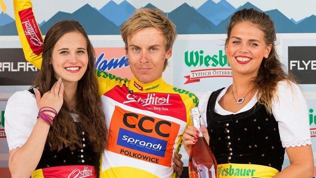 Jan Hirt po svém vítězství v 5. etapě závodu Kolem Rakouska.