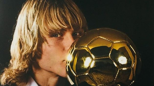 Pavel Nedvěd se Zlatým míčem.