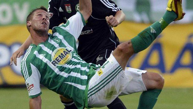 Klokan Radek Šírl během utkání proti Příbrami.