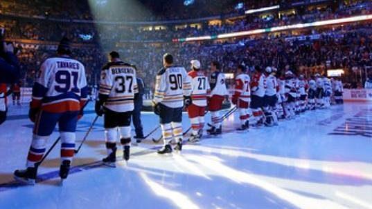 Slavnostní úvod před dovednostními soutěžemi NHL v Nashvillu.