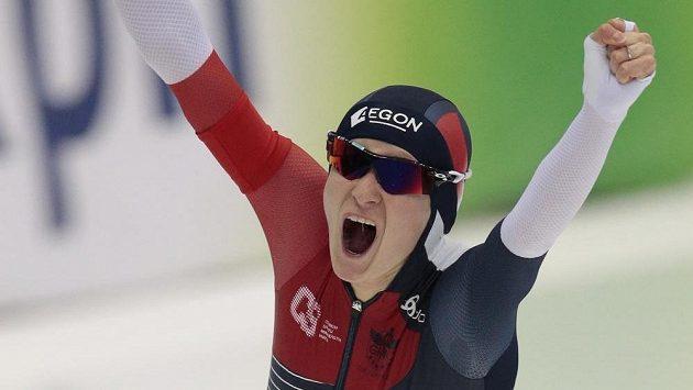 Martina Sáblíková po triumfu na MS v závodě na 5 km.