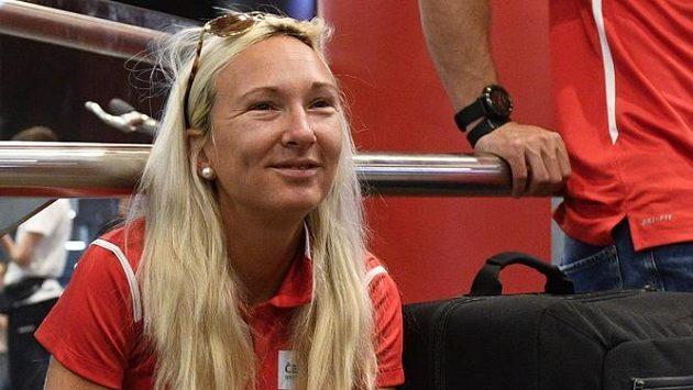 Běžkyně Eva Vrabcová Nývltová před odjezdem na mistrovství Evropy do Berlína