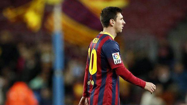 Lionel Messi během semifinále Španělského poháru.