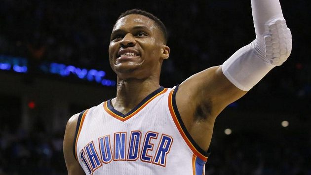 Basketbalista týmu Oklahomy City Thunder Russell Westbrook.