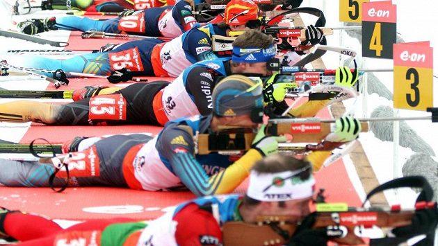 Světový pohár biatlonistů v Anterselvě, stíhací závod mužů - ilustrační foto.