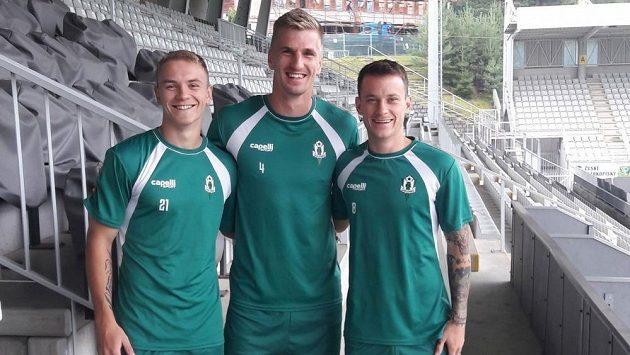 Ze Slavie v Jablonci hostují (zleva) Jan Matoušek, Jakub Jugas a Jan Sýkora.