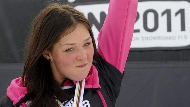 Ruská snowboardistka Alena Zavarzinová.