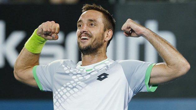 Radost Viktora Troického po triumfu na turnaji v Sydney.