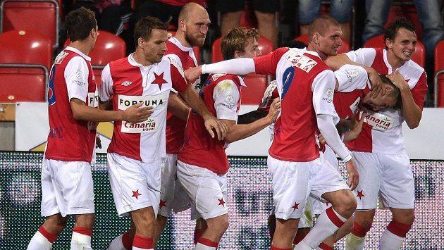 Fotbalisté pražské Slavie porazili v přípravě Hajduk Split.