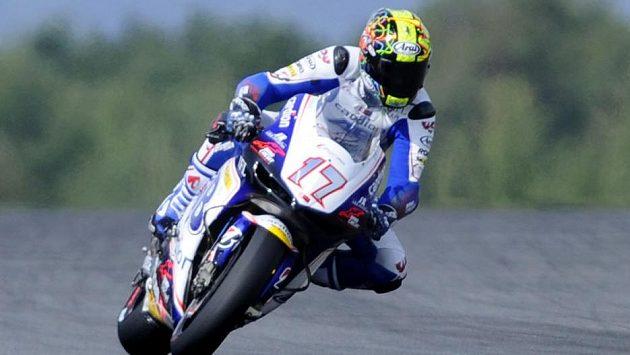 Český závodník v MotoGP Karel Abraham při Velké ceně České republiky.