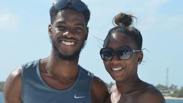 Britská sprinterka Bianca Williamsová a její přítel Ricardo dos Santos.