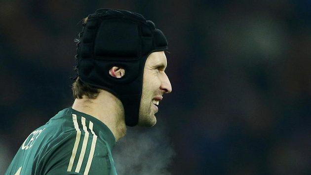Brankář Chelsea Petr Čech v utkání Ligy mistrů s Basilejí.
