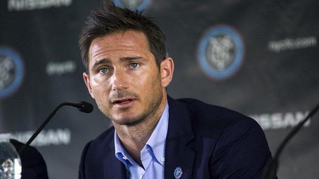Frank Lampard na tiskové konferenci v New Yorku.