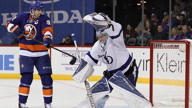 Gólman Tampy Bay Andrej Vasilevskij byl nepřekonatelný, nepřišel si na něj ani kapitán Islanders John Tavares.