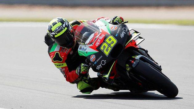 Italský jezdec MotoGP Andrea Iannone.