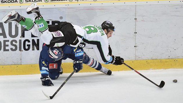 Michal Bárta (č. 8) v dresu Mladé Boleslavi.